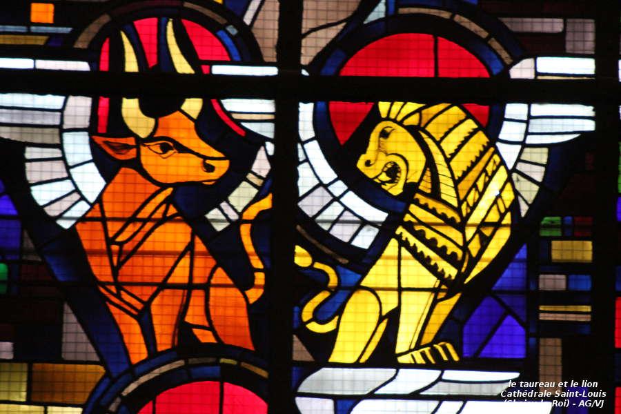 AOC-VJ.Choisy.Cathedrale.Vitrail Taureau & Lion.01